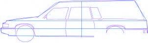 dessiner une voiture corbillard - etape 2