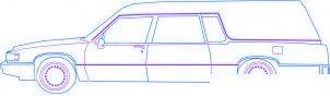 dessiner une voiture corbillard - etape 3