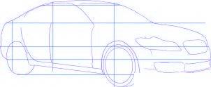 dessiner une voiture Jaguar XF - etape 2