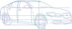 dessiner une voiture Jaguar XF - etape 3