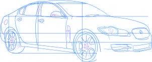 dessiner une voiture Jaguar XF - etape 4