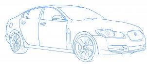 dessiner une voiture Jaguar XF - etape 5