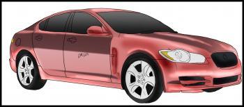 dessin de voiture Jaguar XF terminé