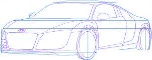 dessiner une voiture Audi R8 - etape 3