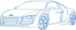 dessiner une voiture Audi R8 - etape 5