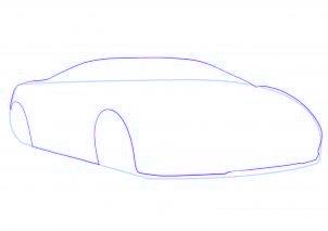 dessiner une voiture de sport Lamborghini - etape 2