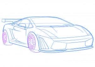 dessiner une voiture de sport Lamborghini - etape 7