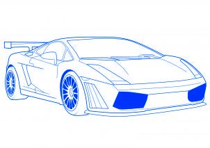comment dessiner une voiture de sport lamborghini 2 allodessin. Black Bedroom Furniture Sets. Home Design Ideas