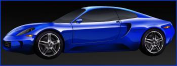dessin de voiture de course Ferrari 599 GTO terminé