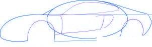dessiner une voiture de course Ferrari 599 GTO - etape 2