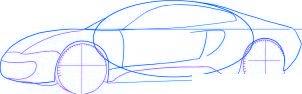 dessiner une voiture de course Ferrari 599 GTO - etape 3