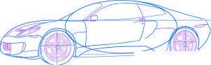 dessiner une voiture de course Ferrari 599 GTO - etape 4