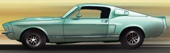 dessin de voiture Ford Shelby Mustang GT 500 terminé