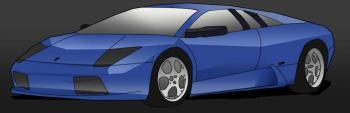 dessin de voiture de sport Lamborghini terminé