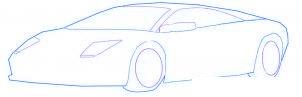 dessiner une voiture de sport Lamborghini - etape 3