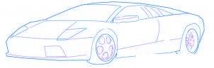 dessiner une voiture de sport Lamborghini - etape 4