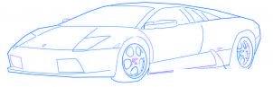 dessiner une voiture de sport Lamborghini - etape 5