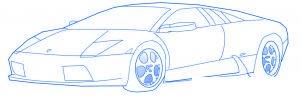 dessiner une voiture de sport Lamborghini - etape 6