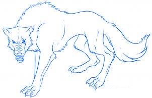 dessiner un loup de dessin anime - etape 7