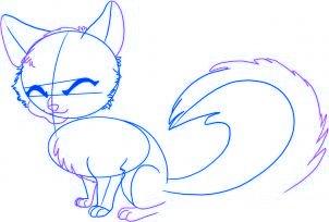 dessiner un renard de dessin anime - etape 3