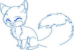 dessiner un renard de dessin anime - etape 6