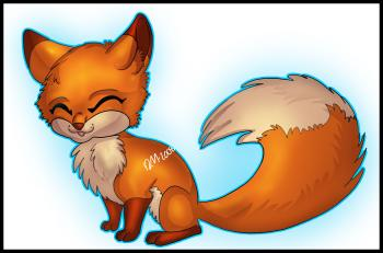 dessin de renard de dessin anime terminé