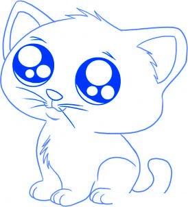 Comment dessiner facilement un chat - Dessiner des animaux facilement ...