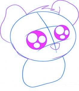 dessiner un chiot de dessin anime - etape 2