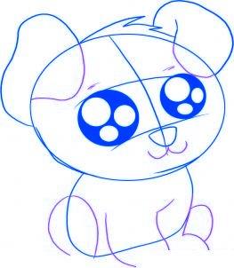 dessiner un chiot de dessin anime - etape 3
