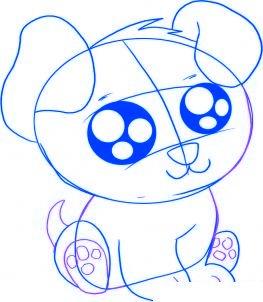 dessiner un chiot de dessin anime - etape 4