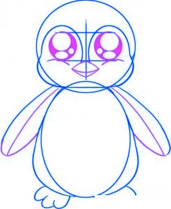 dessiner un bebe pingouin - etape 3