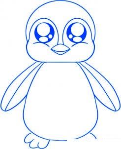 dessiner un bebe pingouin - etape 4