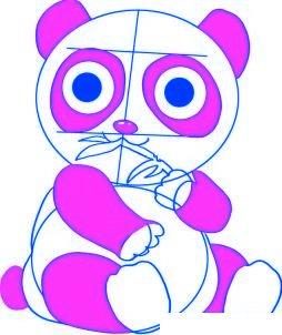 dessiner un panda de dessin anime - etape 5