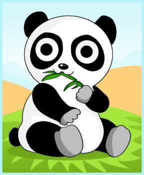 dessin de panda de dessin anime terminé