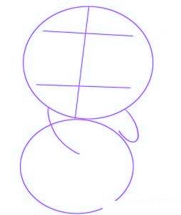 dessiner un panda de dessin anime - etape 1