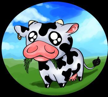 dessin de bebe vache terminé