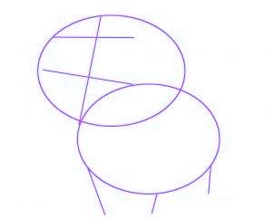 dessiner un bebe vache - etape 1