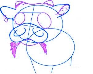 dessiner un bebe vache - etape 3