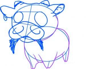 dessiner un bebe vache - etape 4