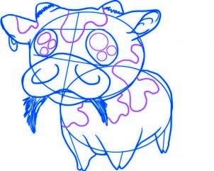 dessiner un bebe vache - etape 5