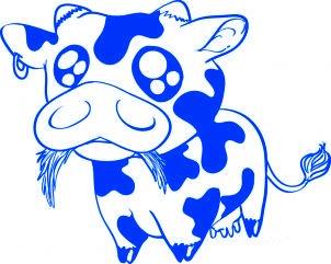 Comment dessiner une vache b b allodessin - Dessin vache facile ...