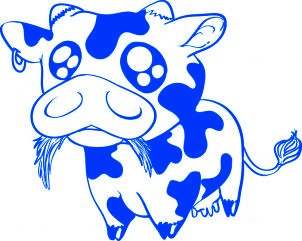 Comment dessiner une vache b b allodessin - Dessin d une vache ...