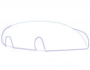 dessiner une voiture decapotable - etape 3
