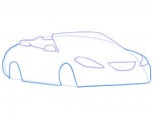 dessiner une voiture decapotable - etape 4