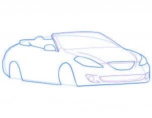 dessiner une voiture decapotable - etape 5