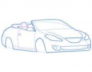 dessiner une voiture decapotable - etape 6