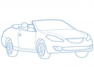 Comment dessiner une voiture d capotable allodessin - Dessiner une voiture facile ...
