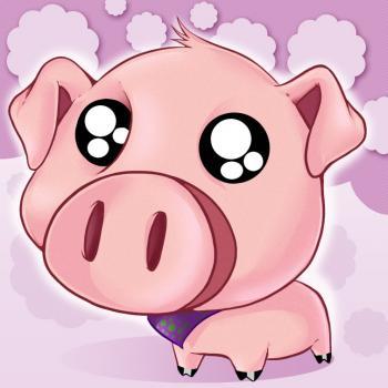 dessin de cochon mignon de dessin anime terminé
