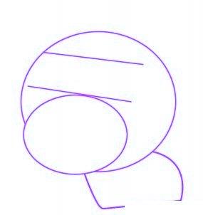 dessiner un cochon mignon de dessin anime - etape 1