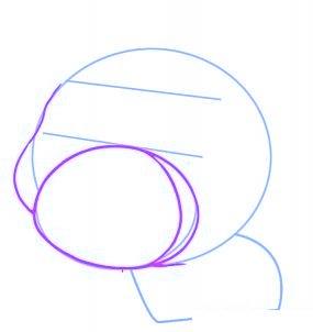 dessiner un cochon mignon de dessin anime - etape 2